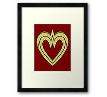 Heart of a Warrior  Framed Print