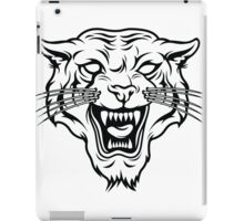 Angry tiger silhouette head iPad Case/Skin