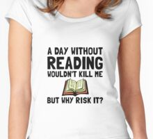 Risk It Reading Women's Fitted Scoop T-Shirt