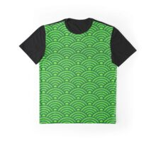 Green Seikaiha Graphic T-Shirt