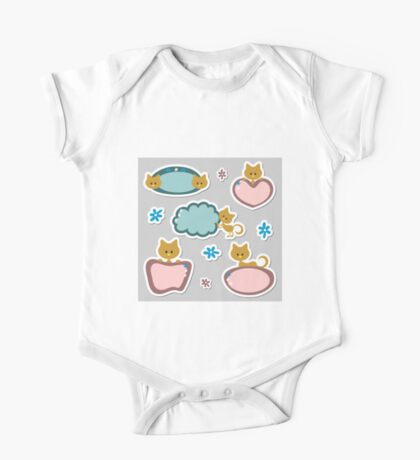 Cute cats theme of life One Piece - Short Sleeve