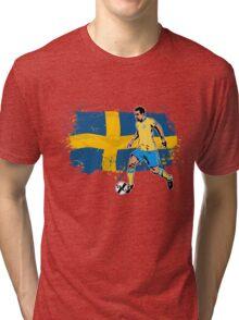 Soccer - Fußball - Sweden Flag Tri-blend T-Shirt