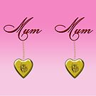 Golden Heart Locket with Mum by Chere Lei