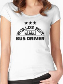 World's best bus driver Women's Fitted Scoop T-Shirt