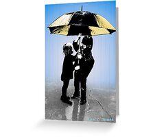 Sharing The Umbrella 2015 Greeting Card