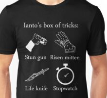 Ianto's box of tricks (white) Unisex T-Shirt