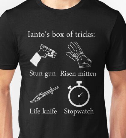 Ianto's box of tricks (white) Unisex T-Shirt