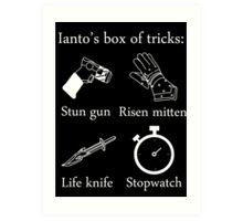 Ianto's box of tricks (white) Art Print