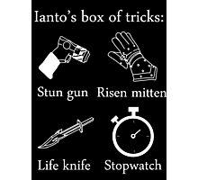 Ianto's box of tricks (white) Photographic Print