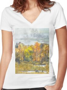 autumn 300 Women's Fitted V-Neck T-Shirt