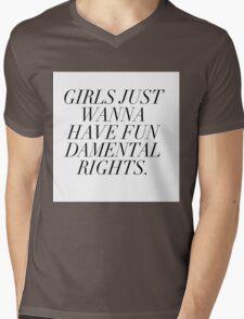 Girls just wanna have fundamental rights Mens V-Neck T-Shirt