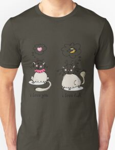 Love you, love face funny cat graphic T-Shirt