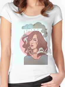 Trippin' on skies Women's Fitted Scoop T-Shirt