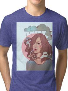Trippin' on skies Tri-blend T-Shirt