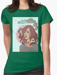 Trippin' on skies Womens Fitted T-Shirt