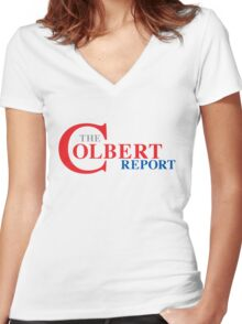 The Colbert Report Women's Fitted V-Neck T-Shirt