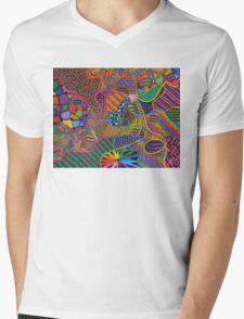 Heart Strings Mens V-Neck T-Shirt