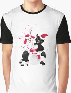 Christmas cartoon cat clip art Graphic T-Shirt