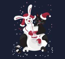 Christmas cartoon cat clip art One Piece - Long Sleeve