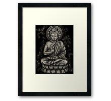 Zen Silver, Buddha 1 Framed Print