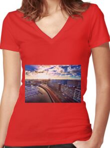 Amsterdam Women's Fitted V-Neck T-Shirt