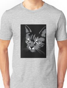 Black cat cartoon silhouetteCat silhouette cat silhouette Unisex T-Shirt