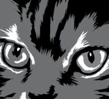 Black cat cartoon silhouetteCat silhouette cat silhouette Sticker