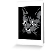 Black cat cartoon silhouetteCat silhouette cat silhouette Greeting Card