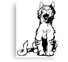Cat meow clip art Canvas Print
