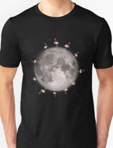 Flamingos On The Moon T-Shirt