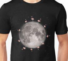 Flamingos On The Moon Unisex T-Shirt