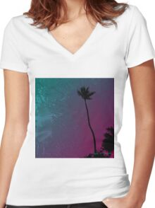 The Palm 2011 Women's Fitted V-Neck T-Shirt