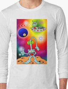 Alien Cartoon Long Sleeve T-Shirt