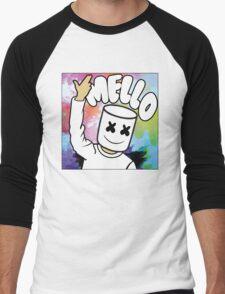 Marshmello Color Men's Baseball ¾ T-Shirt