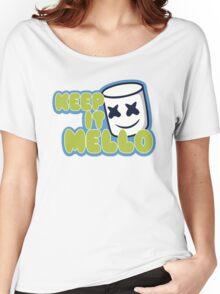 Marshmello Blue Women's Relaxed Fit T-Shirt