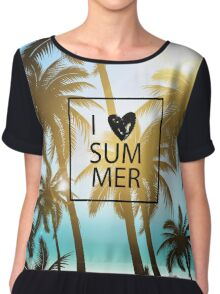 I love summer design with palms and ocean view. Chiffon Top