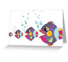 Cat fish Greeting Card
