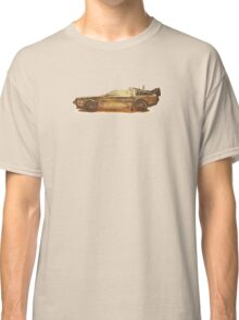 Lost in the Wild Wild West! (Golden Delorean Doubleexposure Art) Classic T-Shirt