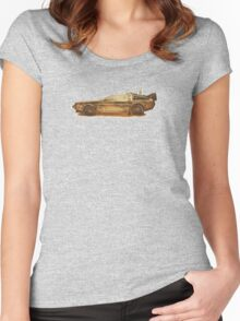 Lost in the Wild Wild West! (Golden Delorean Doubleexposure Art) Women's Fitted Scoop T-Shirt