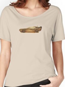 Lost in the Wild Wild West! (Golden Delorean Doubleexposure Art) Women's Relaxed Fit T-Shirt