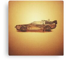 Lost in the Wild Wild West! (Golden Delorean Doubleexposure Art) Canvas Print
