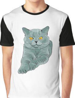 Fat sitting cat Graphic T-Shirt