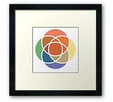 Color Overlap Framed Print