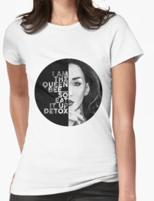 Detox Circle Text Portrait Womens Fitted T-Shirt