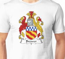 Brewer Coat of Arms / Brewer Family Crest Unisex T-Shirt