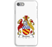Brewer Coat of Arms / Brewer Family Crest iPhone Case/Skin