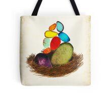 My Colorful Bird Babies Tote Bag