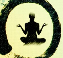 Zen and Meditation Sticker