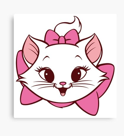 Lovely cat design Canvas Print