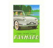 Fifties classic car Panhard from France  Art Print